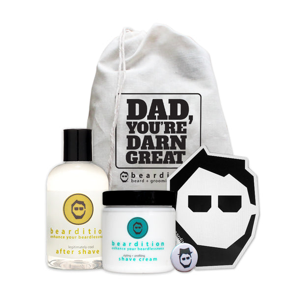 Father's Day beardless gift set