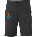 Threaded Wit Logo Shorts - Black