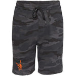 Threaded Wit Rock Logo - Black Camo Shorts