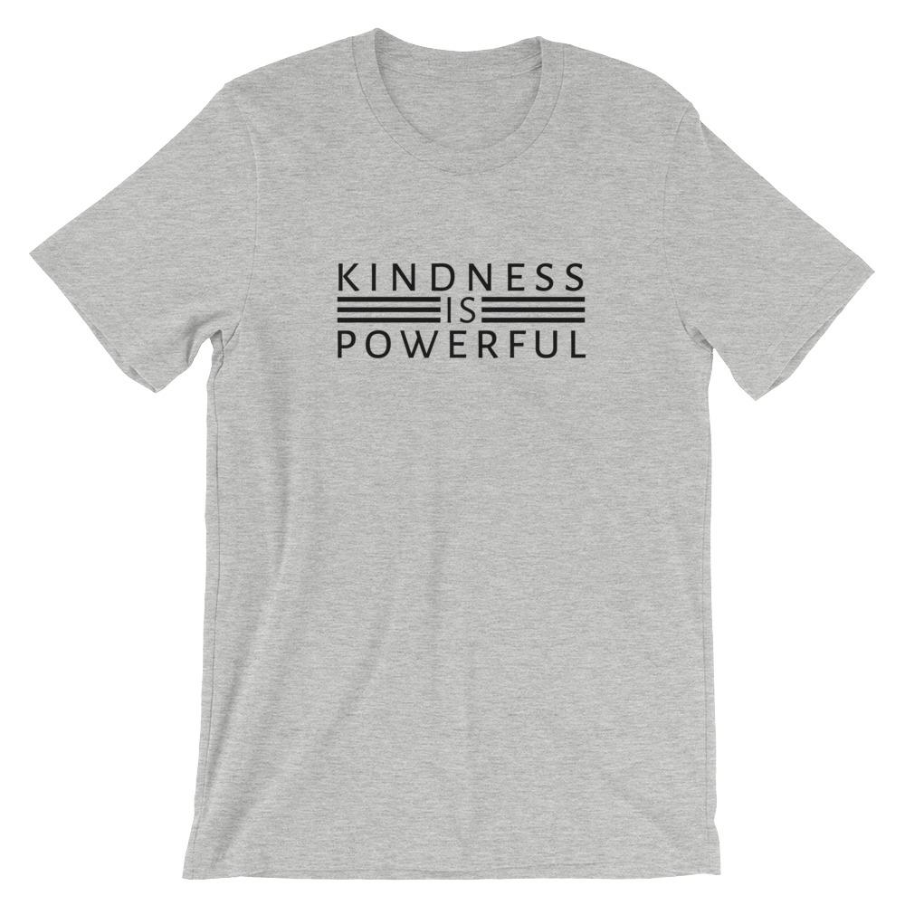 Kindness is Powerful T-Shirt Threaded Wit Athletic Heather S