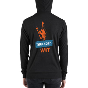 Threaded Wit Logo Full Zip Lightweight Hoodie