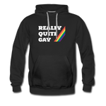 Really Quite Gay -  Premium Hoodie - black