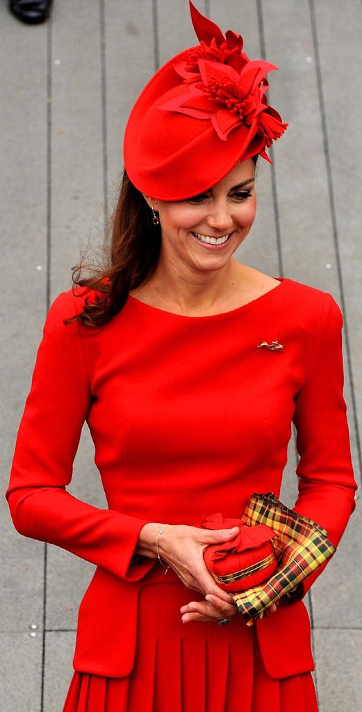 Kate Middleton red race outfit