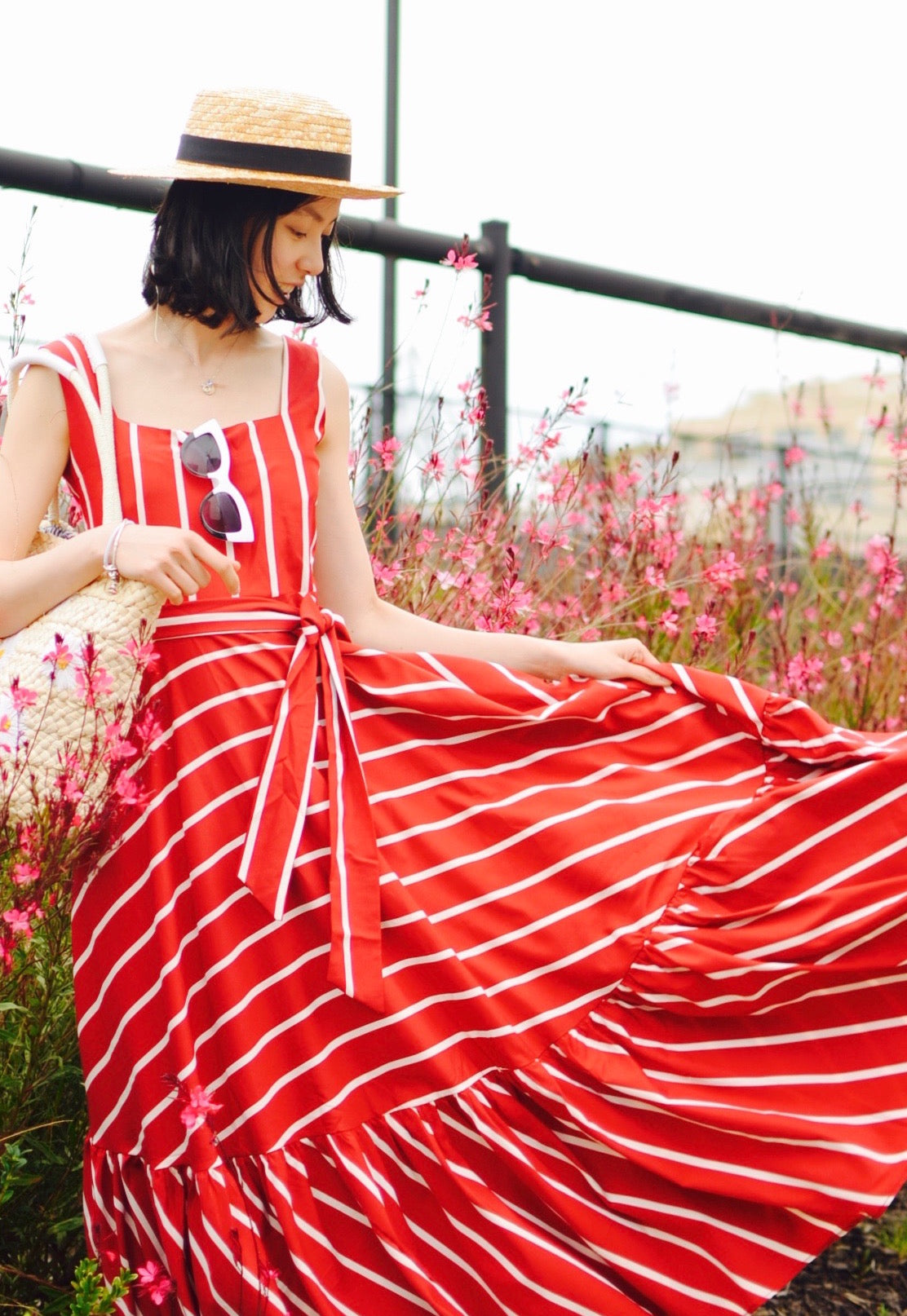 beautiful red maxi summer dress
