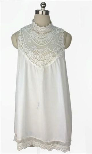 FRENCH LACE WHITE DRESS - DRESS - Koogal.com.au