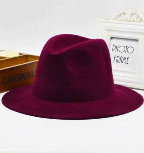 SOME NIGHT FELT FEDORA HAT in RED WINE