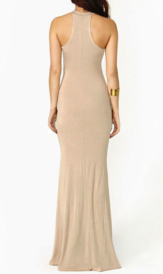 HOURGLASS ILLUSION MAXI DRESS