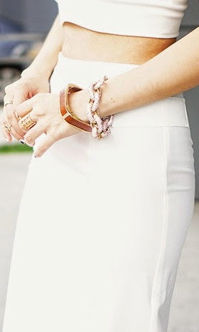 DREAM WHITE SET (Crop top and skirt) - DRESS - Koogal.com.au