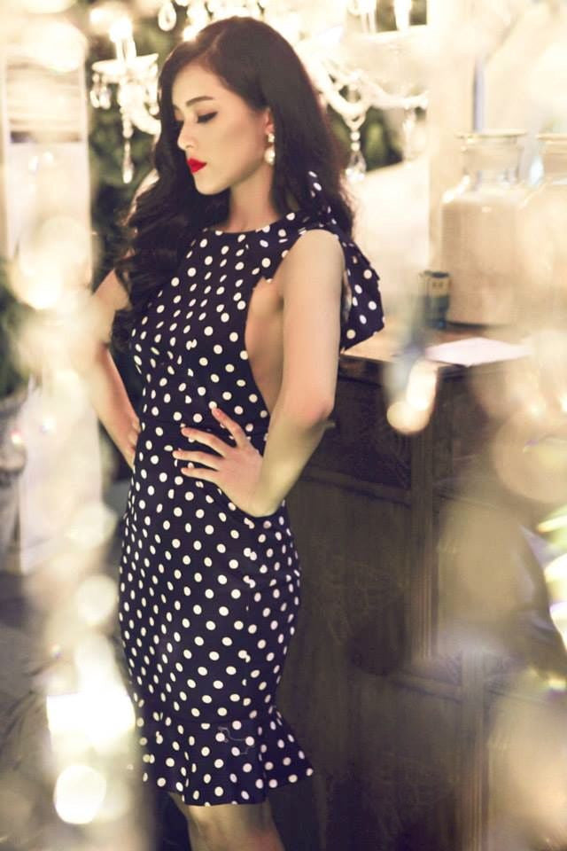 FEARLESS POLKA DOT DRESS