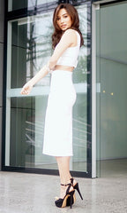 DREAM WHITE SET (Crop top and skirt)