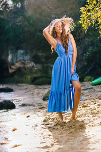 ARIEL INFINITY FLOWY MAXI DRESS IN SKY BLUE - DRESS - Koogal.com.au