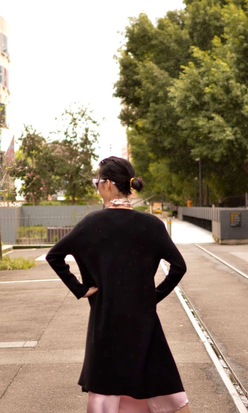 COMFORT IS THE NEW SEXY CARDIGAN in BLACK - cardigan - Koogal.com.au