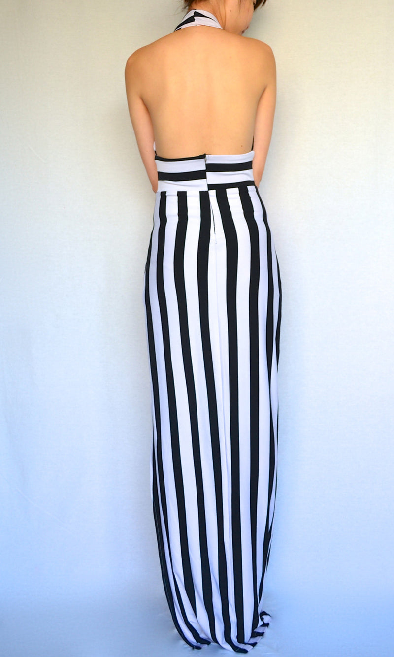 APHRODITE STRIPE MAXI DRESS - DRESS - Koogal.com.au
