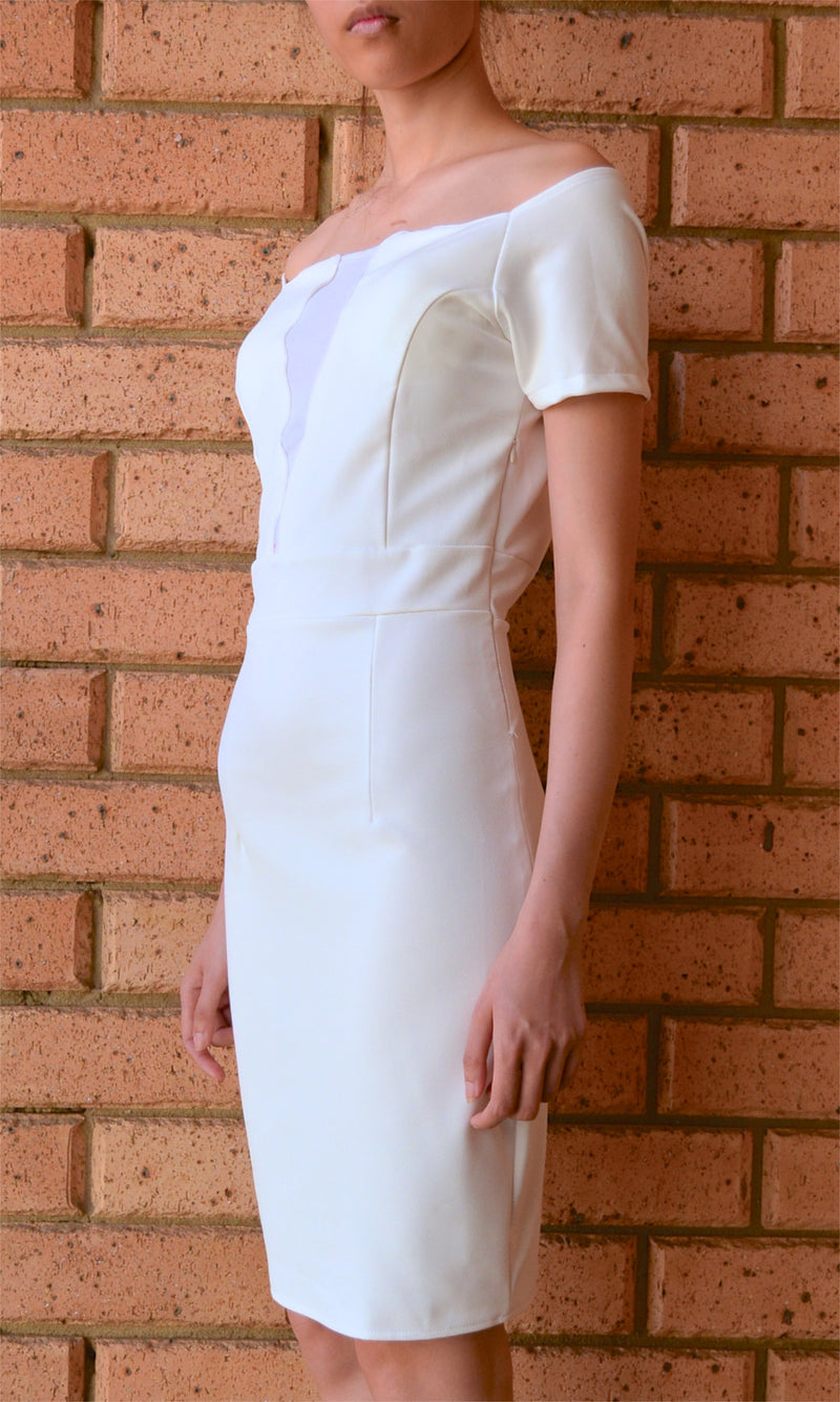 MAFIA WHITE MIDI DRESS - Koogal