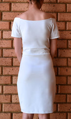 MAFIA WHITE MIDI DRESS