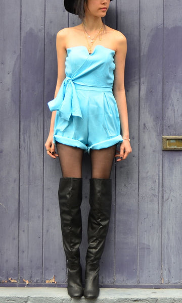 BLUE IVY STRAPLESS PLAYSUIT/ROMPER