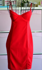 FREEDOM BODYCON DRESS in Red