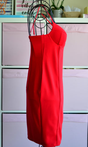 FREEDOM BODYCON DRESS in Red - DRESS - Koogal.com.au