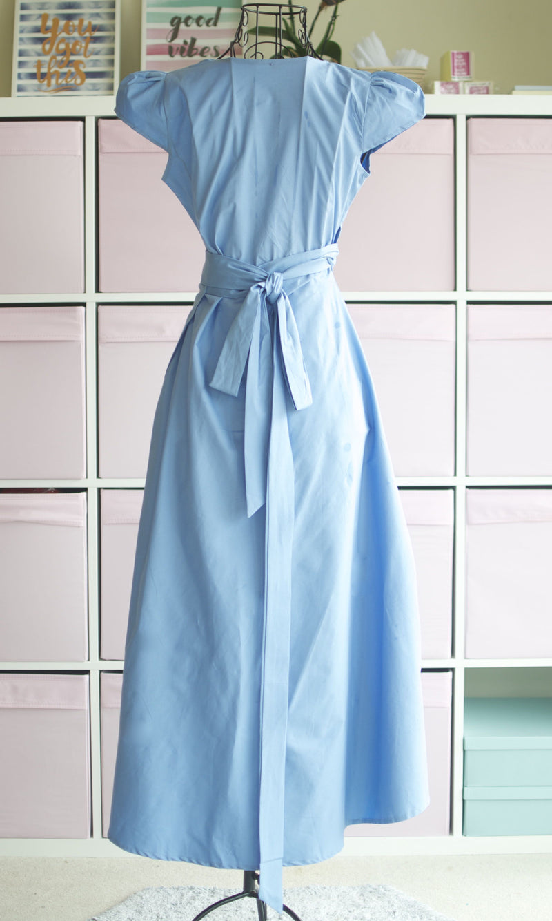 THEIA WRAP MAXI DRESS IN SKY BLUE - DRESS - Koogal.com.au
