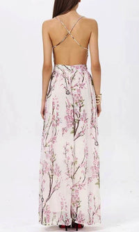 CHERRY BLOSSOM FLORAL MAXI DRESS - DRESS - Koogal.com.au
