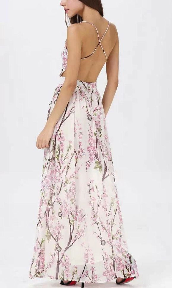 CHERRY BLOSSOM MAXI DRESS