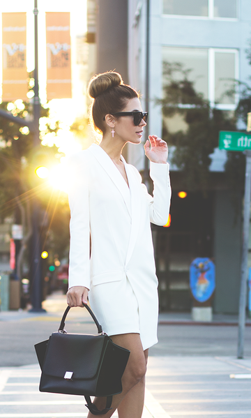 Koogal White Blazer Dress