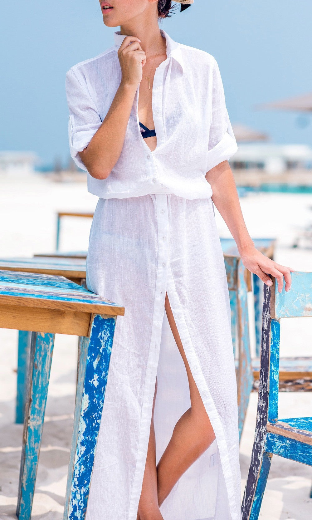 summer-maxi-shirt-dress-white-Koogal
