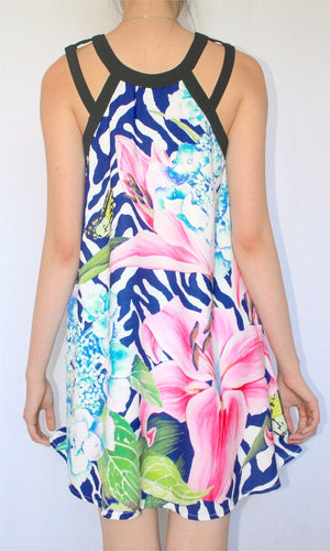 FIRST BLOOM LILIES SHIFT DRESS - DRESS - Koogal.com.au