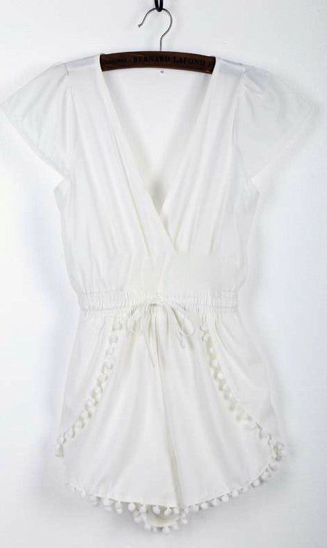 LILY LACE SHORT JUMPSUIT - DRESS - Koogal.com.au