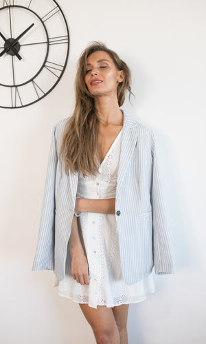 SHE MEANS BUSINESS PLAID BLAZER -  - Koogal.com.au