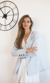 SHE MEANS BUSINESS PLAID BLAZER - Koogal