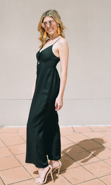 JENNY WIDE LEG JUMPSUIT in BLACK
