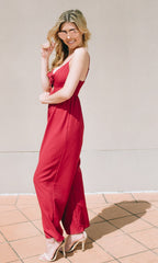 JENNY WIDE LEG JUMPSUIT in RED