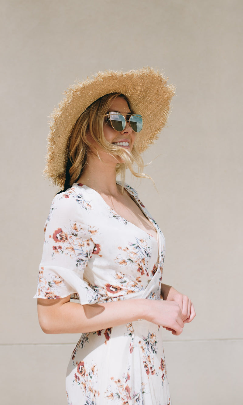 WIDE BRIM STRAW HAT - DRESS - Koogal.com.au