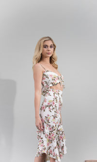 HOT STUFF CUT OUT FLORAL DRESS