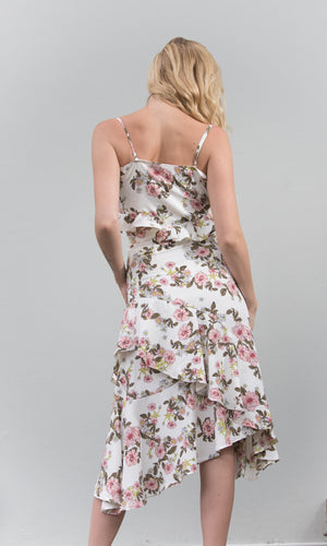HOT STUFF CUT OUT FLORAL DRESS - DRESS - Koogal.com.au