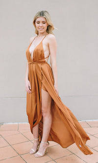 FLY ME TO THE MOON FLOWY MAXI DRESS