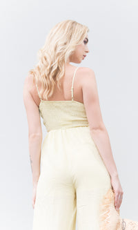 MEGAN TIE FRONT LONG JUMPSUIT - jumpsuit - Koogal.com.au