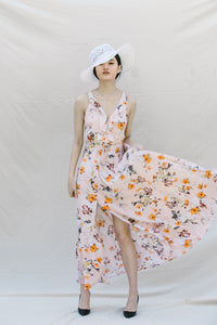 TITA FLORAL MAXI DRESS FLOOR LENGTH - DRESS - Koogal.com.au