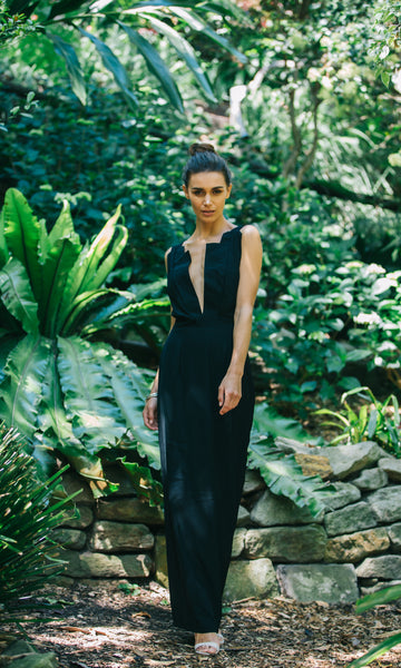 SELENE MAXI PROM DRESS in BLACK