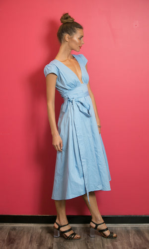 Theia-blue-wrap-maxi-dress-koogal