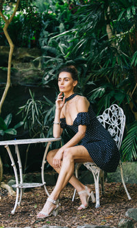 POLINA MINI DRESS in POLKA DOT - DRESS - Koogal.com.au