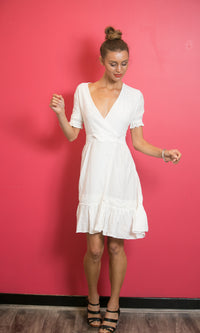 MIA SUMMER WHITE MINI DRESS - DRESS - Koogal.com.au