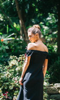 MIMI OFF THE SHOULDER DRESS in BLACK - DRESS - Koogal.com.au
