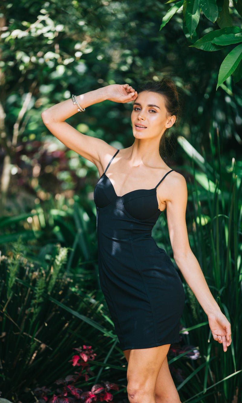 FREEDOM BODYCON DRESS in Black