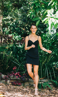 FREEDOM BODYCON DRESS in Black - DRESS - Koogal.com.au