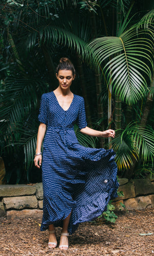 LOVE OF ME MAXI DRESS IN POLKA DOT
