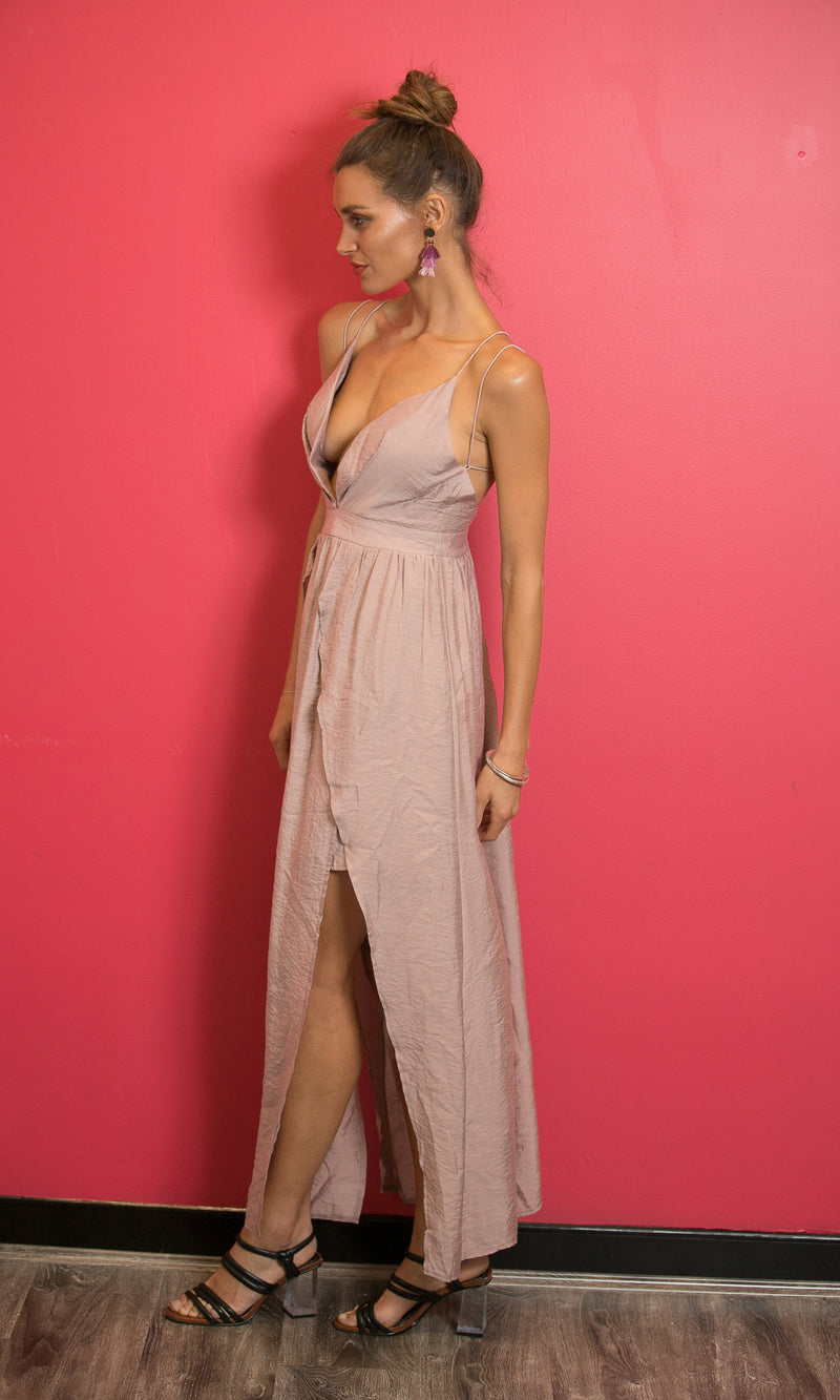 LADY BUTTERFLY BACKLESS PROM DRESS in PINK - DRESS - Koogal.com.au