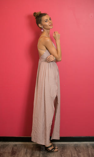 LADY BUTTERFLY BACKLESS PROM DRESS in PINK