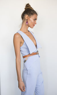 LILAC LONG POWER SUIT - jumpsuit - Koogal.com.au